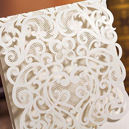 undangan pernikahan laser cut detail